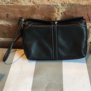 Coach Leather Turnlock Wristlet